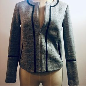 Elizabeth And James Heather Grey Moto Jacket